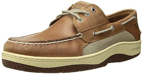 SPERRY Men's Billfish 3-Eye Boat Shoe, Dark Tan, 14 - Eyelet Lacing System