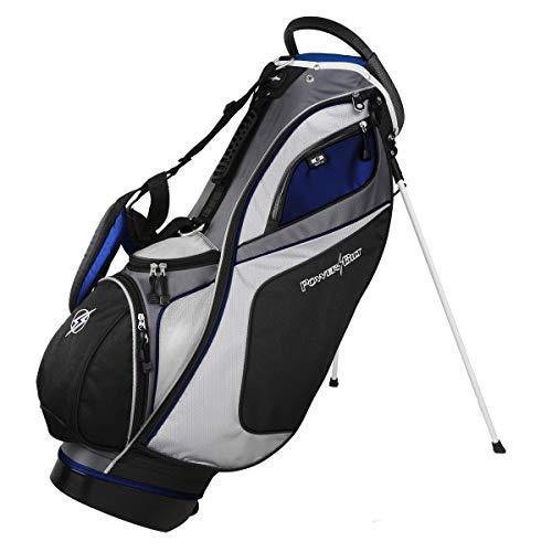 Powerbilt TPS Dunes 14-Way Black/Blue Stand Golf Bag (Black/Blue) (Renewed)