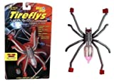Tireflys Spoke Spider Motion Activated Bicycle Light- Silver/Red
