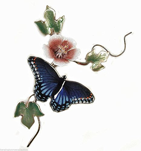 WALL ART - RED SPOTTED PURPLE BUTTERFLY METAL