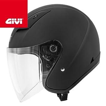 GIVI HPS 30.3 de Demi jet casco de, Negro, Tamaño 40