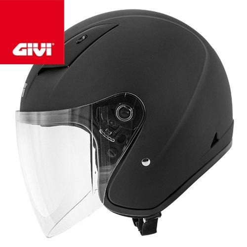 GIVI HPS 30.3 de Demi jet casco de, Negro, Tamañ o 40 Tamaño 40 H303BN90059