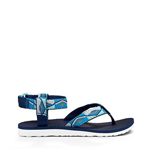 Teva Damen Original Sandale Pyramidenblau
