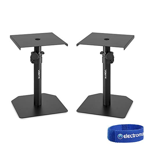 Studio Monitor Stand Set Adjustable Height Home HiFi Speaker Desktop Stands