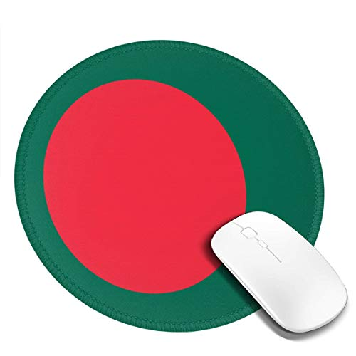 Flag of Bangladesh Round Non-Slip Rubber Mouse Pad Gaming Mouse Pad 7.9 X 7.9 in