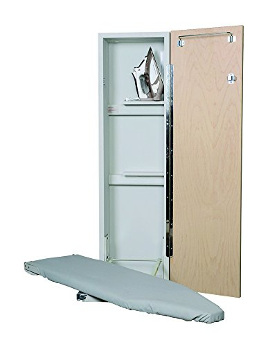 - Iron A Way ANE-42 Deluxe Non-Electric Swivel Ironing Center, Raised Maple Panel Door