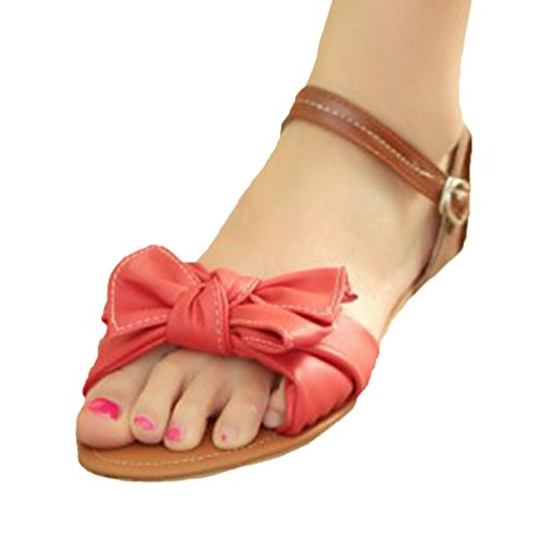 Insun - Sandalias de vestir de Material Sintético para mujer Rojo - rojo