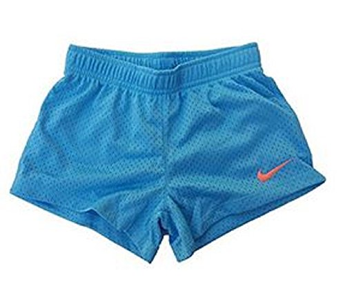 Nike Toddler Girl Logo Mesh Active Shorts (3T, Vivid Sky)