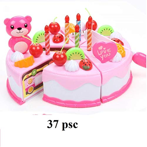 Price comparison product image WEEKEND SHOP Pretend Play Toys Girl Birthday Party Dinner Cake Pretend Play Furniture Toys Simulation Kitchen Cooking Toys Education Accessories Set 1~6Y 19