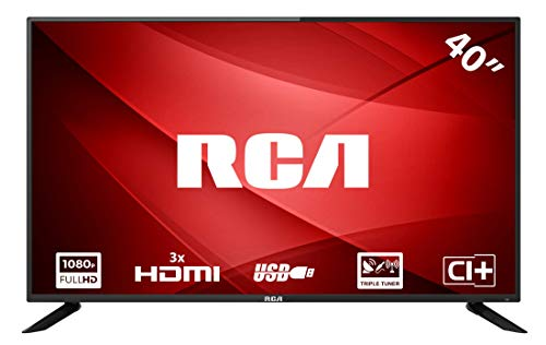 RCA RB40F1 Full HD LED TV (40 Zoll, Triple Tuner (DVB-T2 / S2 / C), HDMI, CI+, Mediaplayer per USB 2.0, 60Hz)