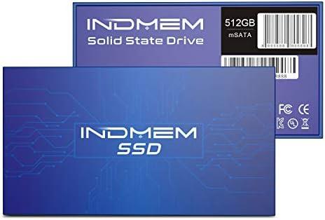 INDMEM DMMS mSATA SSD 512GB Internal Mini SATA III SSD 500GB Micro-SATA MLC 3-D NAND Flash 512G