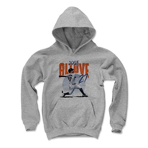 500 LEVEL Jose Altuve Houston Astros Youth Sweatshirt (Kids Small, Gray) - Jose Altuve Rise B