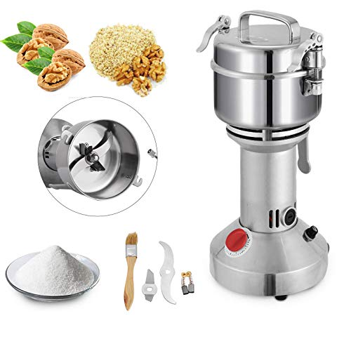Mophorn Electric Grain 350g Mill Grinder Powder Machine 1600W 50-300 Mesh Food Grade 25000RPM Stainless Steel for Kitchen Herb Spice Pepper Coffee