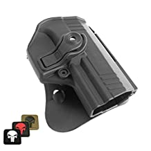 IMI-Z1425 PPX IMI Defense Polymer Roto Right Hand Paddle Holster for Walther PPX + 1x mini PVC Punisher patch by IMI-Defense