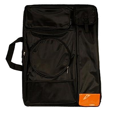 "US Art Supply Black Nylon Art Portfolio Carry Backpack Bag, (Size: 25-1/2"" x 19"" x 4-3/8"") by US Art Supply"