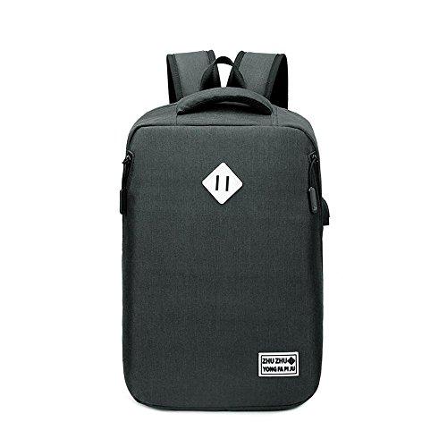 Aoligei Double sac à bandoulière mode masculine étudiant Sac ordinateur sac frais voyage voyage sac à dos business B