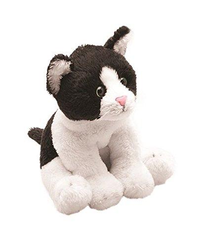 (Suki Yomiko Classics Cat Sitting Plush Toy Black/White, 7 cm)
