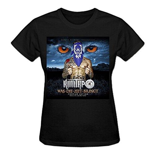 Kontra K Was Die Zeit Bringt Premium cotton Tee Shirts For Women Crew Neck Black