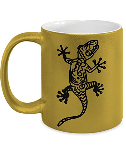 Lizard Coffee Mug: Gold - Lizard Gold Metallic