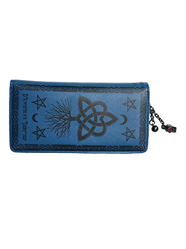 Wallet Pentagram (Lost Queen Last Hope of Misery Gothic Symbols Star Wiccan Vegan Blue Wallet)