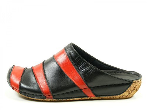 Gemini Mujeres Zapatos abiertos verde, (grün-kombi) 032091-770 Schwarz