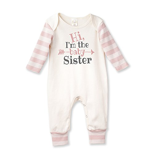 Tesa Babe Little Sister Baby Romper in Pink Stripe by ()