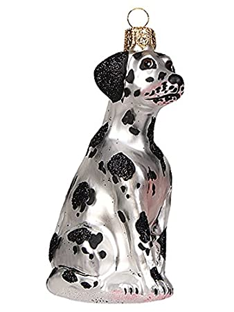 Amazon De Christbaumschmuck Weihnachtskugel Hund Dalmatiner
