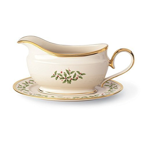 Stkertools(TM) Lenox Holiday Sauce Boat and Stand - 836619 by Stkertools (Image #2)