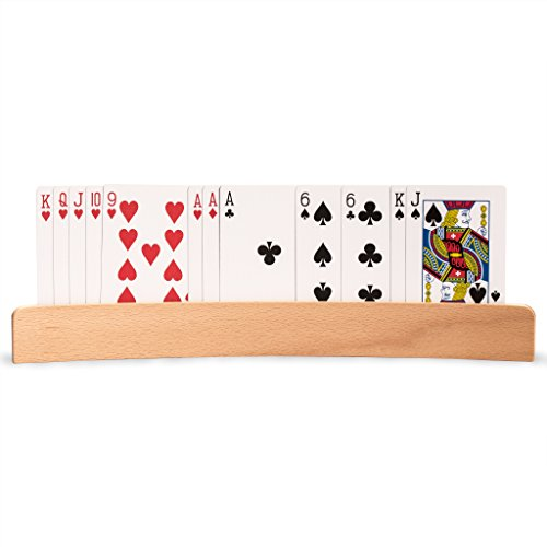 """""""The Panorama"""" Wooden Playing Card Holders, Set of 4"""