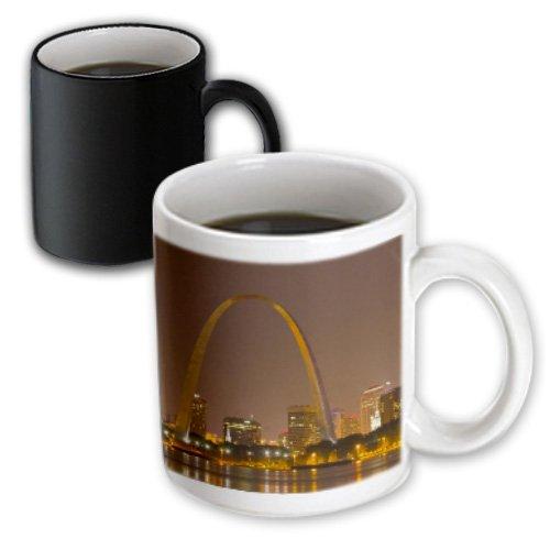 3dRose mug_91510_3 Gateway Arch, St Louis, Mississippi River, Missouri Us26 Cha0012 Chuck Haney Magic Transforming Mug, - St Missouri Louis Outlet