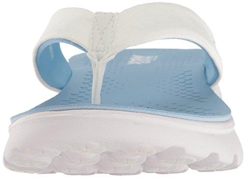 Go Les Skechers Sandales Sur 400 Noirs White D'essence Light Blue 7SwxOawq