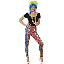Smiffy's Women's Neon Leopard Print Leggings