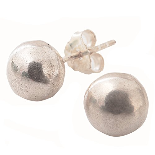 - GIFT EARRINGS BALL FINE SILVER THAILAND KAREN HILL TRIBE