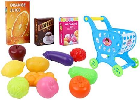 Toyvian 14pcs Carretilla de simulación para niños con Frutas y Verduras Carretilla Juego de Mini Juegos de simulación de simulación Juguetes de Cocina (Azul Cielo): Amazon.es: Juguetes y juegos