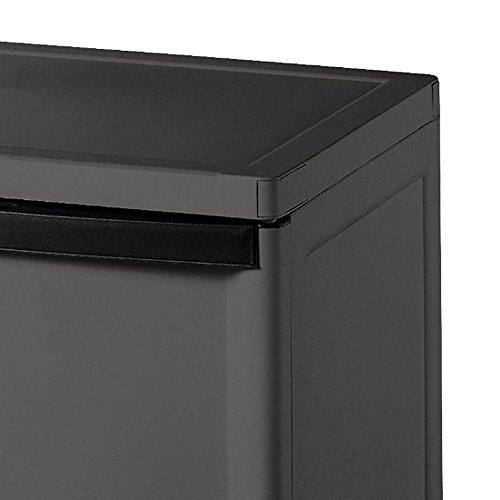 Sterilite 2 Shelf Laundry Garage Utility Storage Cabinet Flat Gray 0140 (2  Pack)