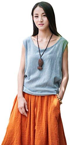 Soojun Womens Summer Sleeveless Blouses