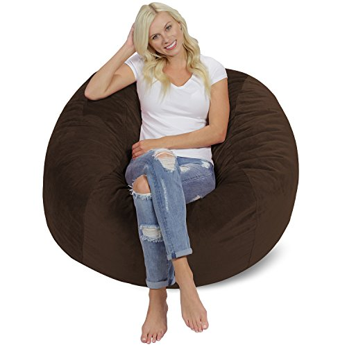 Chill Sack Bean Bag Chair: Giant 4' Memory Foam Furniture Bean Bag -...