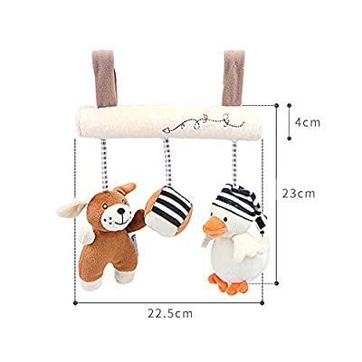 MAJINCGJ Newborn Baby Toy Baby Carriage Pendant with Music Box Bedside Hanging cart Comfort Toy, Baby Plush Toy : Baby