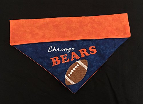 Chicago Bears Dog Bandana/Over the Collar Bears Dog Bandana/Embroidered Personalized Dog Bandana (All Sizes)