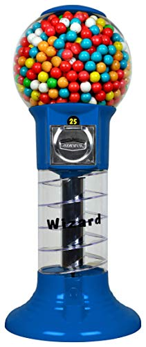 Spiral Gumball Machine Lil Wizard 27 inch - set up for $0.25 - Gumballs 1 inch - Toys in Round Capsules - 1'' Bouncy Balls 25 mm - Blue Vending Gum Machine - Great Gift for Kids by Global Gumball (Image #5)