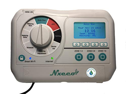 Nxeco NX8 Smart Irrigation Controller - Compatible with Alexa