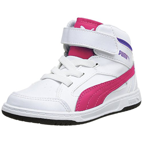 Zapatillass Rebound v2 Hi KIDS white-purple 14/15 Puma 31 white-purple