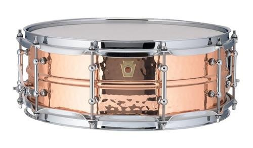 Ludwig Copper Phonic Hammered Snare Drum 14 x 5 in. Copper Finish with Tube Lugs by Ludwig