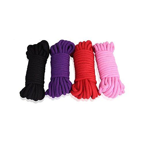 Aureve 4 Colors SM Rope Fetish Sex Restraint Bondage Rope Harness SM Role Play Game Adult Sex Toys for Women Men Couple Pink by CNSKJEOIcnjfl