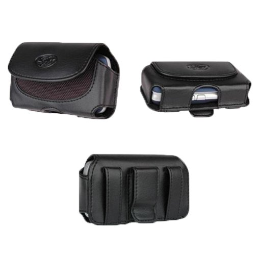 Leather Case Holster Cover Side Pouch with Belt Clip For Verizon Samsung Intensity III II U460 -Auction4tech Brand