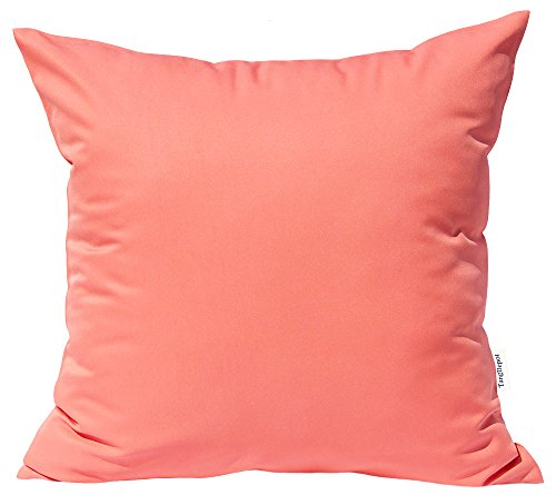 TangDepot Durable Faux Silk Solid Pillow Shams, Euro Shams,