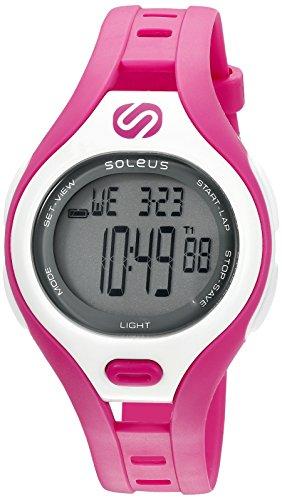Soleus 'Dash' Quartz Plastic Running Watch, Color:Pink (Model: SR019-630)