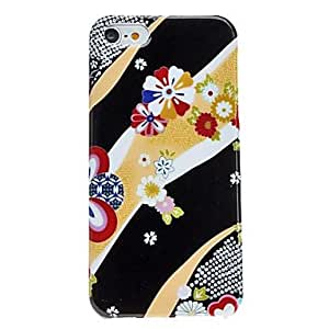 Cartoon Style Flower Pattern Hard Case for iPhone 5/5S