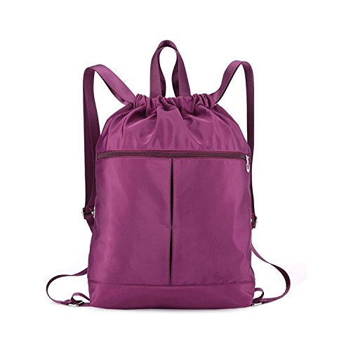 Alpaca Go Waterproof Drawstring Bag,lightweight Gym Sackpack Sport backpack for Men and Women (Purple) Review