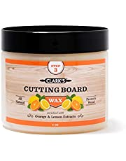 CLARK'S Cutting Board Finish Wax (6oz)   Enriched with Lemon & Orange Oils   Made with Natural Beeswax and Carnauba Wax   Butcher Block Wax